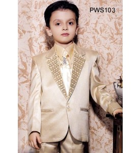 Dark Cream Color Party Wear Suit