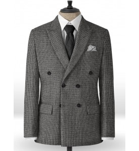 Grey tweed Double Breast Blazer