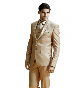 Intresting Light Color Three Piece Suit